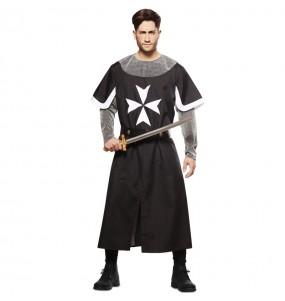Disfarce Cruzado Medieval Preto adulto divertidíssimo para qualquer ocasião