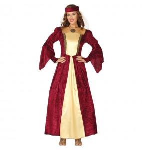 Disfarce original Dama Medieval Elegante mulher ao melhor preço