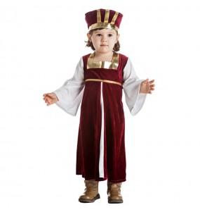 Disfarce Rainha Medieval bebé para deixar voar a sua imaginação