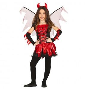 Fato de Diaba com asas para menina