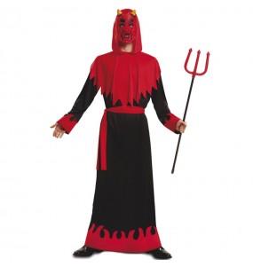 Fato de Demónio adulto para a noite de Halloween
