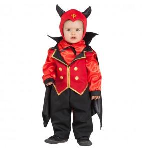 Disfarce Halloween Demónio Elegante com que o teu bebé ficará divertido.