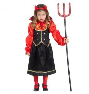 Disfarce Halloween Diaba Inferno meninas para uma festa Halloween