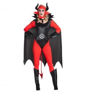 Fato de Diaba Lucifer mulher para a noite de Halloween