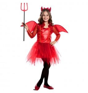 Fato de Diabinha vermelha com asas para menina