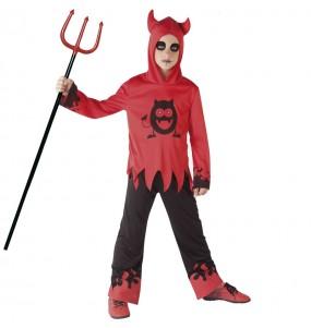 Fato de Diabo com olhos móveis para menino