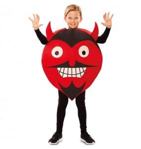 Disfarce Halloween Demónio Emoticon meninos para uma festa do terror