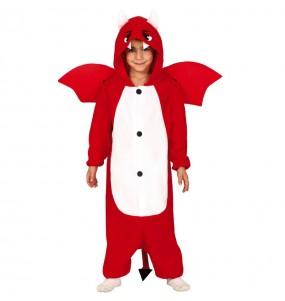Disfarce Halloween Diabo kigurumi para meninos para uma festa do terror