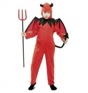 Disfarce Halloween Diabo Vermelho para meninos para uma festa do terror