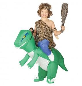Disfarce Ride On Dinossauro Verde insuflável meninos para deixar voar a sua imaginação