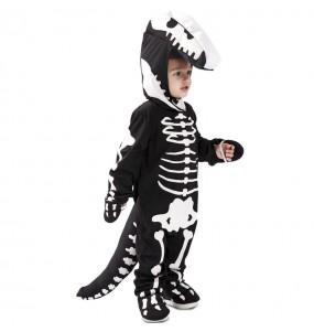 Fato de Dinossauro esqueleto para menino