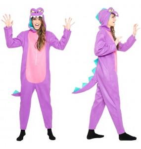 Disfarce original Dinossauro Roxo mulher ao melhor preço