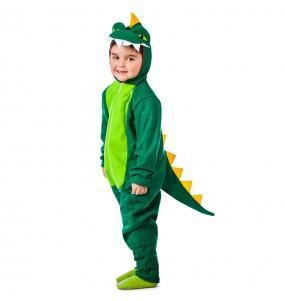Disfarce Dinossauro Verde menino para deixar voar a sua imaginação