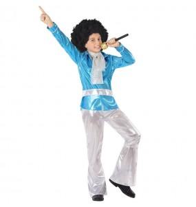 Disfarce Disco Azul menino para deixar voar a sua imaginação