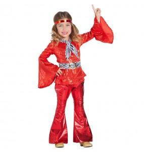 Fato de Disco vermelho para menina