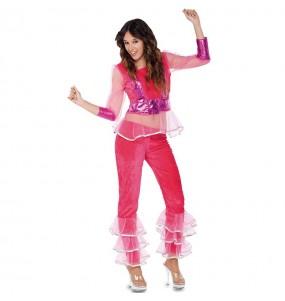 Disfarce original Disco rosa mulher ao melhor preço