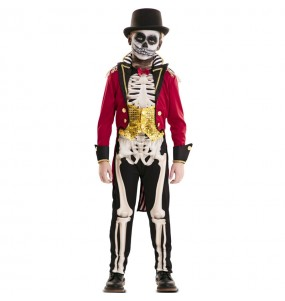 Fato de Domador Esqueleto para menino