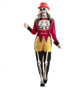 Fato de Domadora esqueleto para mulher