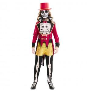 Fato de Domadora esqueleto para menina