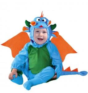 Fato de Dragão azul para bebé