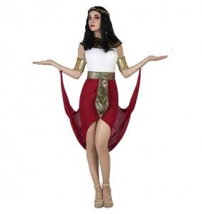 Fato de Egípcia capa vermelha para mulher