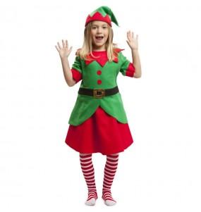 Fato de Elfa ajudante Pai Natal para menina