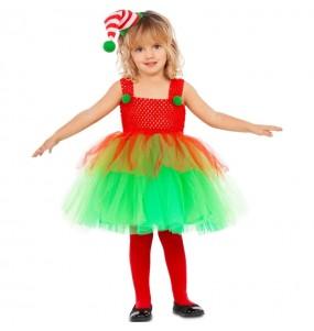 Fato de Elfa com tutu para menina