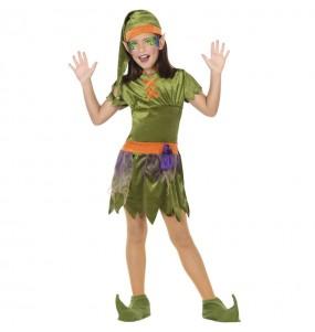 Fato de Elfa da floresta para menina