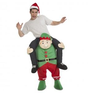 Disfarce Ride On Elfo Natalício adulto divertidíssimo para qualquer ocasião