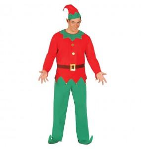 Disfarce duende de Pai Natal adulto divertidíssimo para Natal