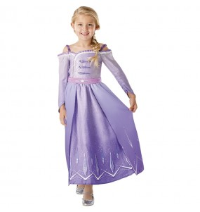 Disfarce Elsa Frozen 2 Prologue menina para que eles sejam com quem sempre sonharam