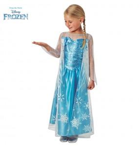 Disfarce Elsa Frozen Classic menina para que eles sejam com quem sempre sonharam