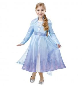 Disfarce Elsa Frozen 2 luxo menina para que eles sejam com quem sempre sonharam