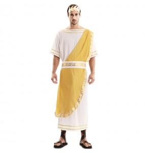 Fato de Imperador Romano dourado para homem