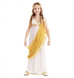 Fato de Imperatriz romana dourada para menina