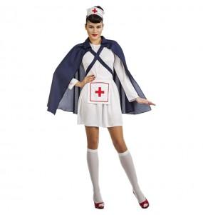 Fato de Enfermeira com capa para mulher