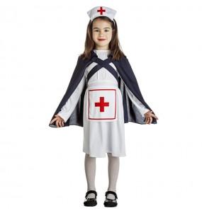 Fato de enfermeira com capa para menina