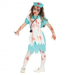 Disfarce Halloween Enfermeira sangrenta meninas para uma festa Halloween