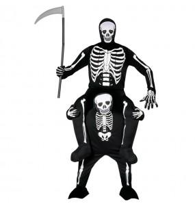 Disfarce Ride On Esqueleto adulto divertidíssimo para qualquer ocasião
