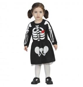 Fato de Esqueleto adorável para bebé