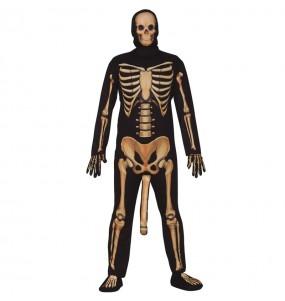 Fato de esqueleto cômico para homem