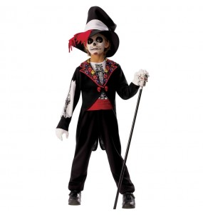 Fato de Esqueleto Catrin para menino