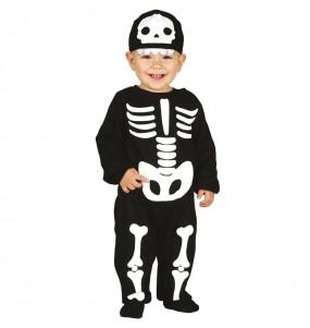 Fato de Esqueleto clássico para bebé