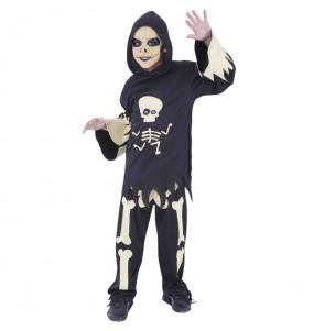 Fato de Esqueleto com olhos móveis para menino