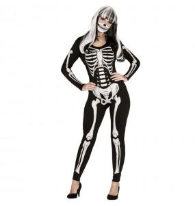 Fato de Esqueleto das trevas para mulher