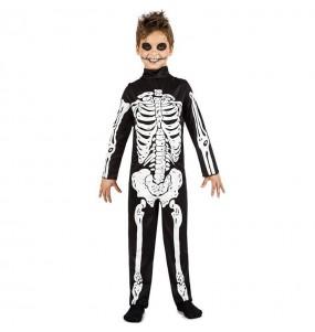 Fato de Esqueleto de escuridão para menino
