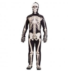Fato de Esqueleto deluxe para homem