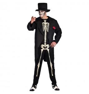 Disfarce Esqueleto Dia do Morto adulto divertidíssimo para qualquer ocasião