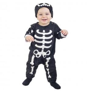 Disfarce Halloween Esqueleto Monstruoso com que o teu bebé ficará divertido.