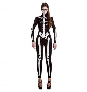 Fato de Esqueleto mulher para a noite de Halloween